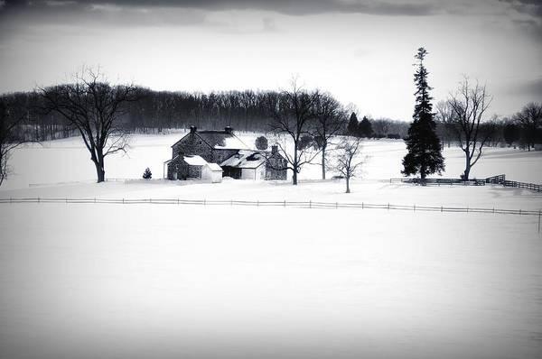 Gettysburg Battlefield Photograph - Gettysburg Farm In Winter by Bill Cannon