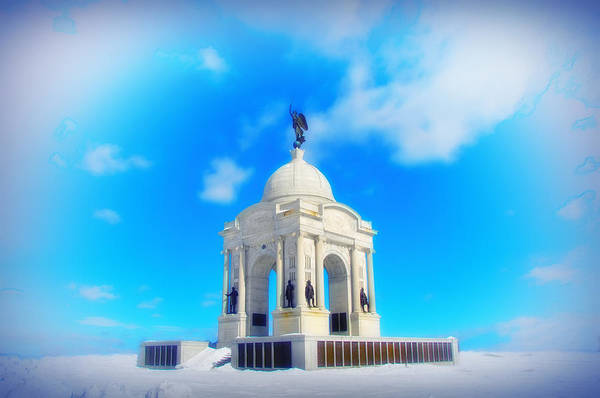 Photograph - Gettysburg Memorial In Winter by Bill Cannon