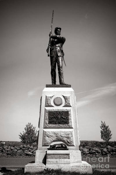 Photograph - Gettysburg National Park 11th Pennsylvania Infantry Monument by Olivier Le Queinec
