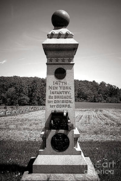 Photograph - Gettysburg National Park 147th New York Infantry Monument by Olivier Le Queinec