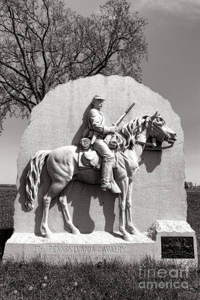 Photograph - Gettysburg National Park 17th Pennsylvania Cavalry Monument by Olivier Le Queinec