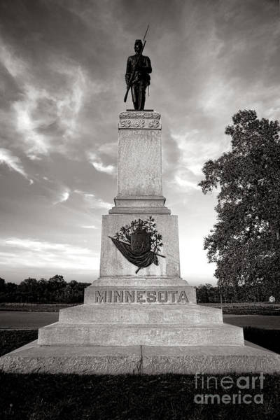 Photograph - Gettysburg National Park 1st Minnesota Infantry Monument by Olivier Le Queinec