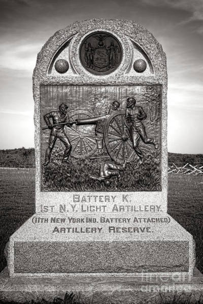 Photograph - Gettysburg National Park 1st New York Light Artillery Monument by Olivier Le Queinec