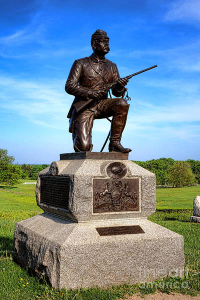 Photograph - Gettysburg National Park 1st Pennsylvania Cavalry Memorial by Olivier Le Queinec