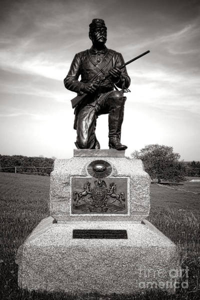 Photograph - Gettysburg National Park 1st Pennsylvania Cavalry Monument by Olivier Le Queinec