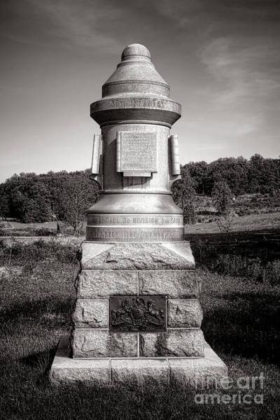 Photograph - Gettysburg National Park 30th Pennsylvania Infantry Monument by Olivier Le Queinec