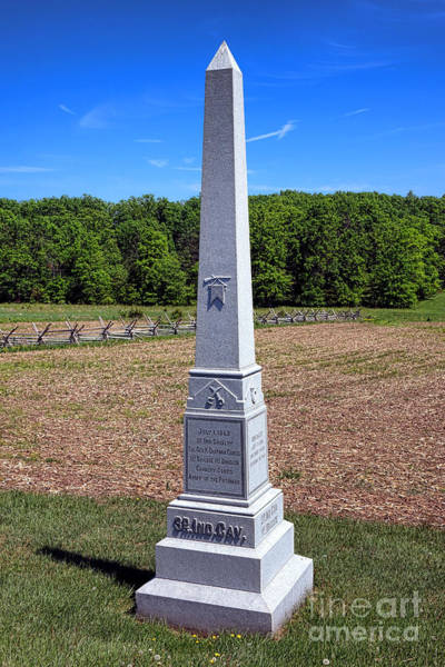 Photograph - Gettysburg National Park 3rd Indiana Cavalry Memorial by Olivier Le Queinec