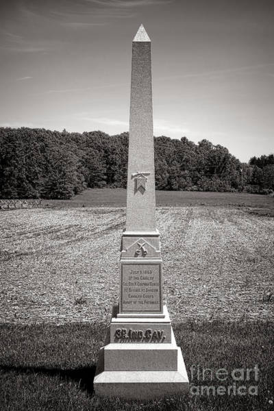 Photograph - Gettysburg National Park 3rd Indiana Cavalry Monument by Olivier Le Queinec