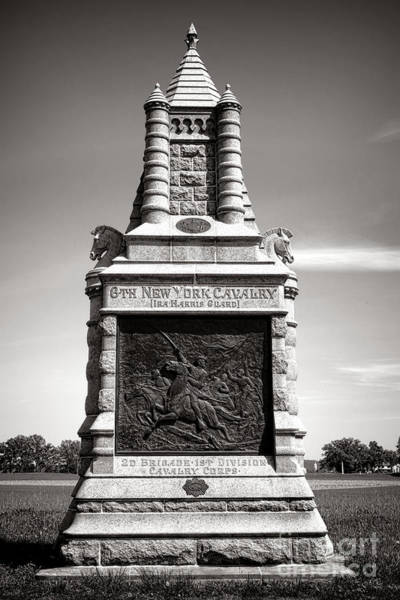 Wall Art - Photograph - Gettysburg National Park 6th New York Cavalry Monument by Olivier Le Queinec