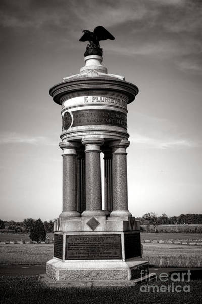 Photograph - Gettysburg National Park 71st And 72nd New York Infantry Monument by Olivier Le Queinec