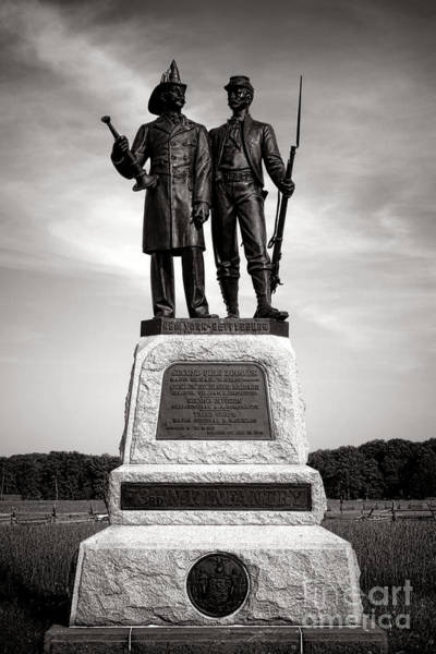 Photograph - Gettysburg National Park 73rd Ny Infantry 2nd Fire Zouaves Monument by Olivier Le Queinec