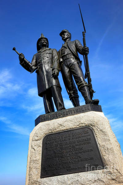 Photograph - Gettysburg National Park 73rd Ny Infantry Second Fire Zouaves Memorial by Olivier Le Queinec