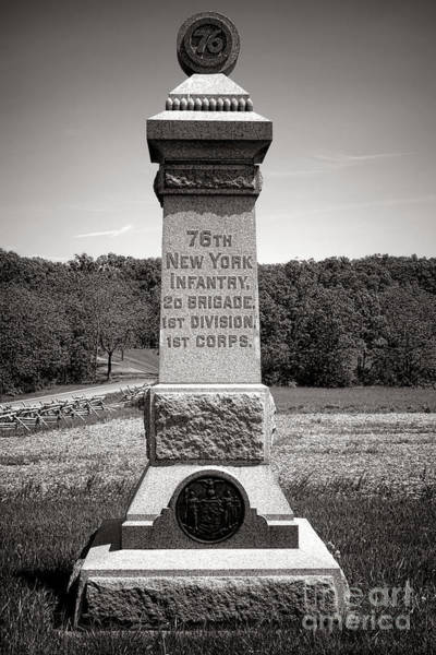 Photograph - Gettysburg National Park 76th New York Infantry Monument by Olivier Le Queinec