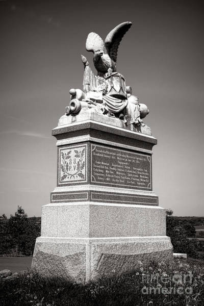 Photograph - Gettysburg National Park 88th Pennsylvania Infantry Monument by Olivier Le Queinec