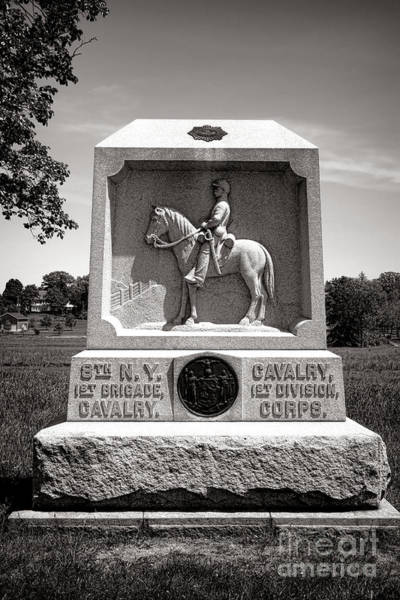Photograph - Gettysburg National Park 8th New York Cavalry Monument by Olivier Le Queinec
