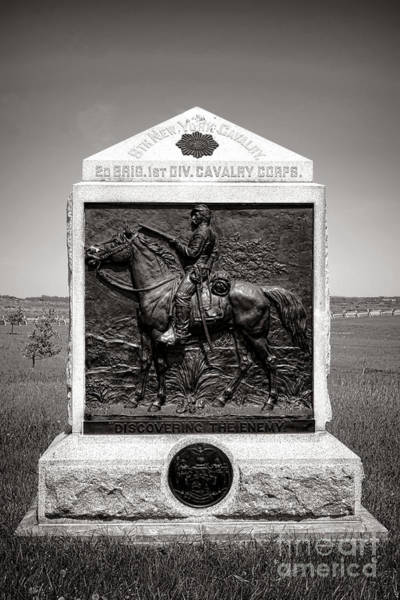 Wall Art - Photograph - Gettysburg National Park 9th New York Cavalry Monument by Olivier Le Queinec