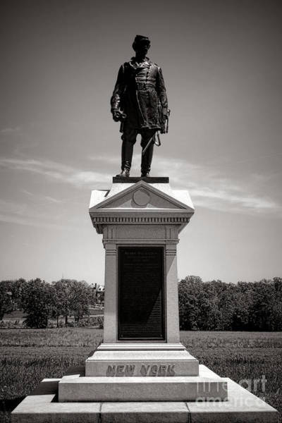 Gettysburg Wall Art - Photograph - Gettysburg National Park Abner Doubleday Monument by Olivier Le Queinec