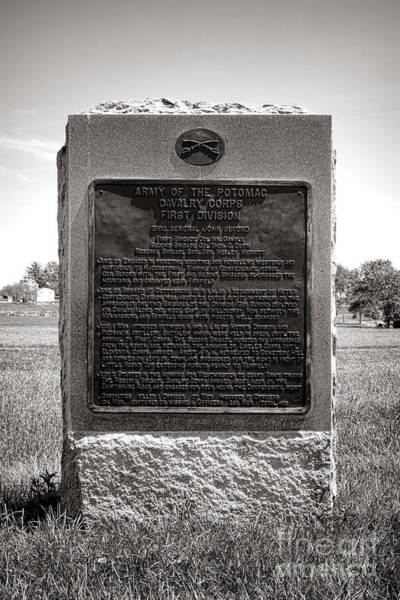 Photograph - Gettysburg National Park Army Of The Potomac Cavalry Corps Monument by Olivier Le Queinec