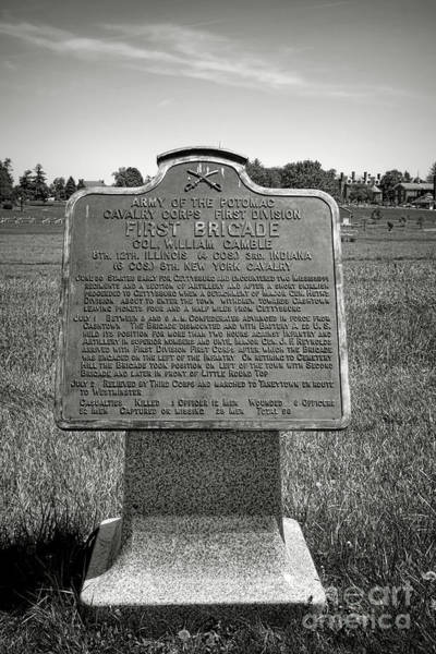 Photograph - Gettysburg National Park Army Of The Potomac First Brigade Monument by Olivier Le Queinec