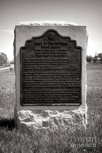 Photograph - Gettysburg National Park Army Of The Potomac First Corps Monument by Olivier Le Queinec