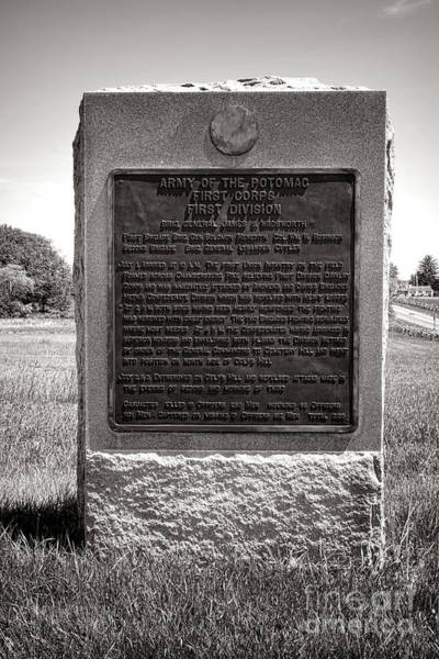 Photograph - Gettysburg National Park Army Of The Potomac First Division Monument by Olivier Le Queinec