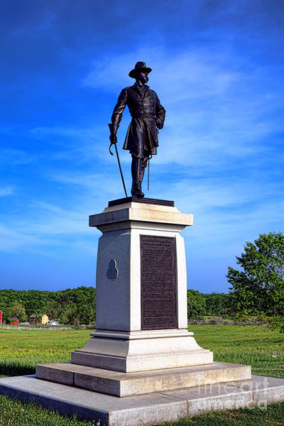 Photograph - Gettysburg National Park Brigadier General Alexander Webb Memorial by Olivier Le Queinec