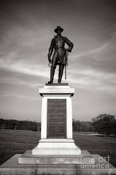 Photograph - Gettysburg National Park Brigadier General Alexander Webb Monument by Olivier Le Queinec