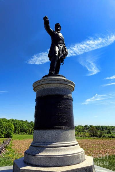 Photograph - Gettysburg National Park James Samuel Wadsworth Memorial by Olivier Le Queinec