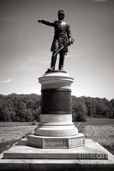 Photograph - Gettysburg National Park James Samuel Wadsworth Monument by Olivier Le Queinec