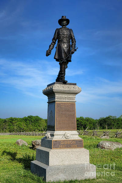 First Officer Photograph - Gettysburg National Park John Gibbon Memorial by Olivier Le Queinec