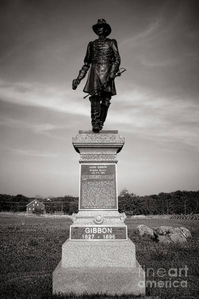 First Officer Photograph - Gettysburg National Park John Gibbon Monument by Olivier Le Queinec