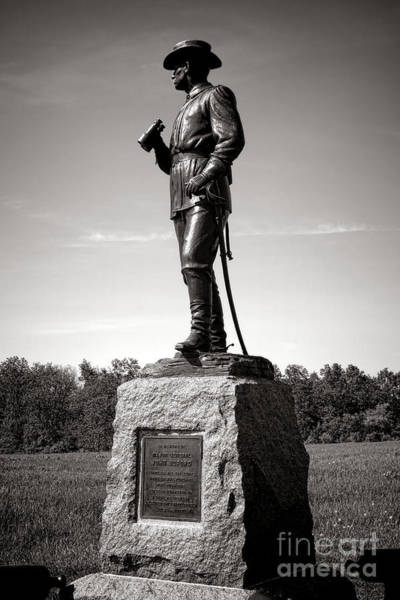 First Officer Photograph - Gettysburg National Park Major General John Buford Monument by Olivier Le Queinec