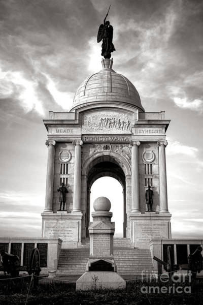 Photograph - Gettysburg National Park Pennsylvania State Memorial Monument by Olivier Le Queinec