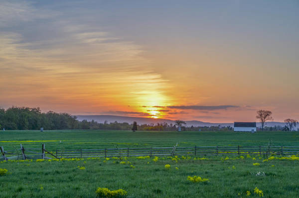 Photograph - Gettysburg National Park - Sunset by Bill Cannon