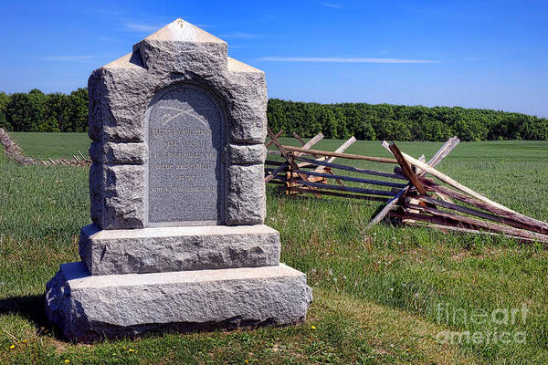 Photograph - Gettysburg National Park Third West Virginia Cavalry Memorial by Olivier Le Queinec