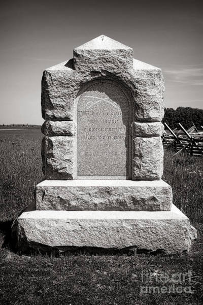 Wall Art - Photograph - Gettysburg National Park Third West Virginia Cavalry Monument by Olivier Le Queinec
