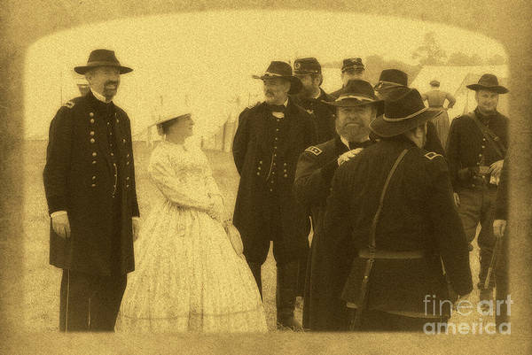 Wall Art - Photograph - Gettysburg Officers by Paul W Faust - Impressions of Light