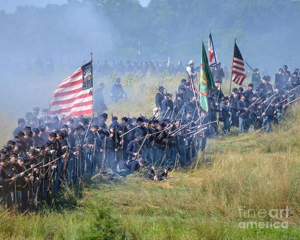 Photograph - Gettysburg Union Infantry 8948c by Cynthia Staley