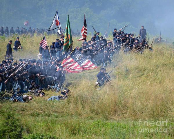 Photograph - Gettysburg Union Infantry 8963c by Cynthia Staley