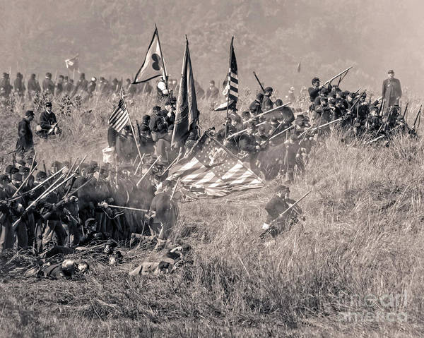 Photograph - Gettysburg Union Infantry 8963s by Cynthia Staley