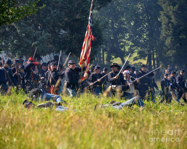 Photograph - Gettysburg Union Infantry 9348c by Cynthia Staley