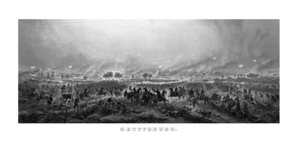 Civil War Wall Art - Painting - Gettysburg by War Is Hell Store