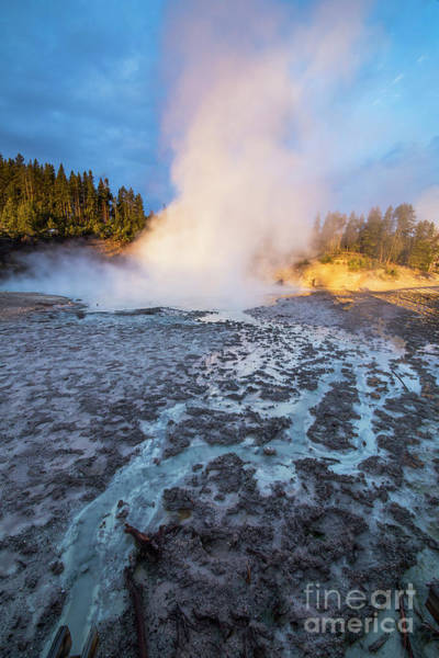 Wall Art - Photograph - Geyser At Yellowstone by Twenty Two North Photography