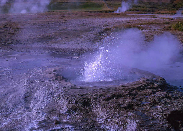 Photograph - Geyser Cone, Iceland by Richard Goldman