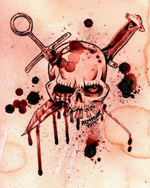 It Professional Painting - Gg Allin / Murder Junkies Logo by Ryan Almighty