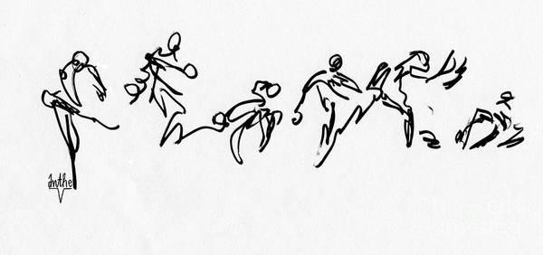 Tribal Dance Digital Art - Ghana-1 Bw by Anthe Capitan-Valais