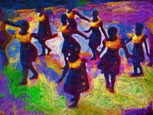 Ghana Painting - Ghana Dancers by Deborah Selib-Haig DMacq