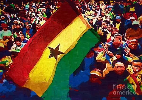 Ghana Painting - Ghana Event by Deborah Selib-Haig DMacq