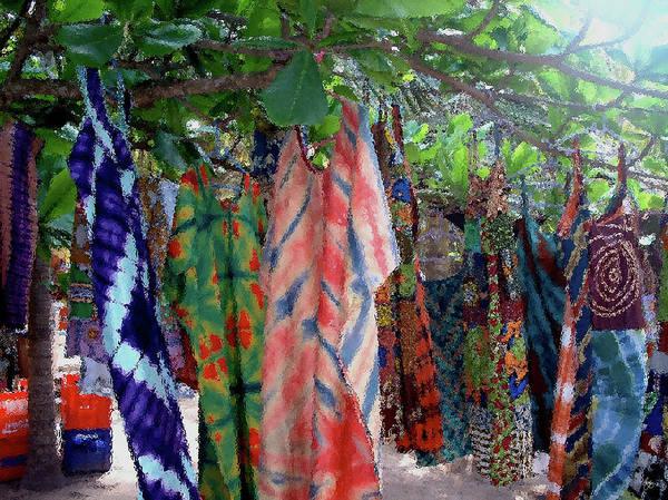 Photograph - Ghana Wash Through Glass by Wayne King