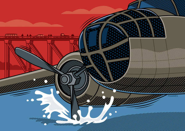 Wall Art - Digital Art - Ghost B-25 Bomber Pittsburgh by Ron Magnes